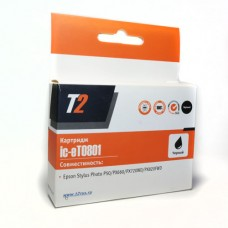 Картридж струйный Т2 аналог Epson T0801 (C13T08014011) для аппаратов Epson Stylus Photo P50/PX660/PX720WD/PX820FWD, черный