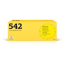 Картридж T2 аналог HP CB542A  для аппаратов HP Color LaserJet CP1215/CP1515n/Canon 716Y (1400 стр.) , желтый