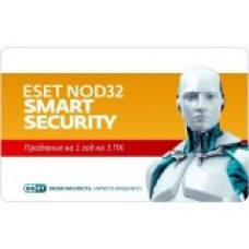 Карта продления подписки ESET NOD32 Smart Security –  на 1 год 3 ПК, Renewal Card