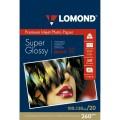 Фотобумага LOMOND Высококачественная Супер Глянцевая, 260г/м2,A6 (10X15)/20л.