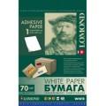 Самоклеящаяся бумага LOMOND универсальная неделенная, A4, (210 x 297 мм), 70 г/м2, 50 листов